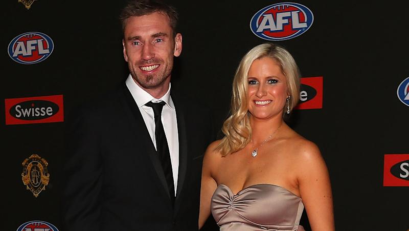 Shane Tuck, pictured here with wife Katherine at the 2012 Brownlow Medal night.