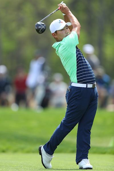 South Korea's Kang Sung plays a tee shot during Friday's second round of the PGA Championship (AFP Photo/Warren Little)