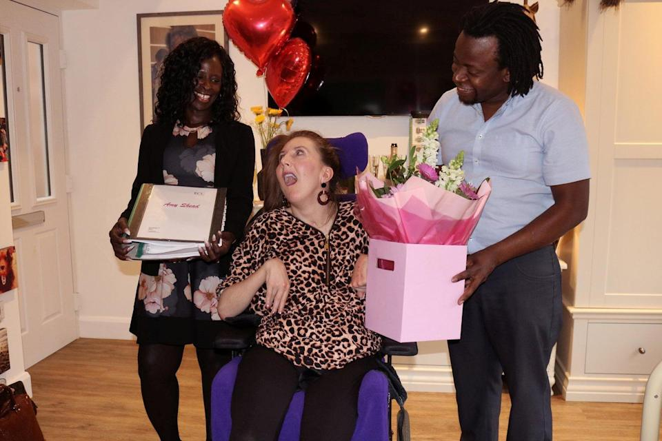 Amy's family have spoken positively about the care she received at Marillac Care (SWNS)