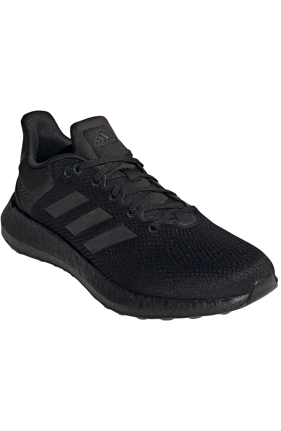 """<p><strong>ADIDAS</strong></p><p>nordstrom.com</p><p><a href=""""https://go.redirectingat.com?id=74968X1596630&url=https%3A%2F%2Fwww.nordstrom.com%2Fs%2Fadidas-pureboost-21-primegreen-running-shoe-men%2F5825526&sref=https%3A%2F%2Fwww.menshealth.com%2Fstyle%2Fg37081969%2Fnordstroms-anniversary-sale-best-sneakers%2F"""" rel=""""nofollow noopener"""" target=""""_blank"""" data-ylk=""""slk:BUY IT HERE"""" class=""""link rapid-noclick-resp"""">BUY IT HERE</a></p><p><del>$130<br></del><strong>$84.90</strong></p><p>Those of you who want to give your shoe collection an eco-friendly spin, this pair is made with recycled materials (after all, it's not every day Boost-clad sneakers are on sale for $85).</p>"""