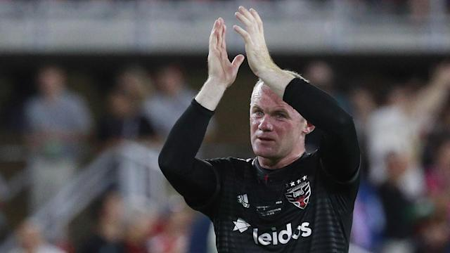 Wayne Rooney converted a second-half penalty, while Luciano Acosta scored a brace to snap Atlanta's seven-match unbeaten streak on Sunday.