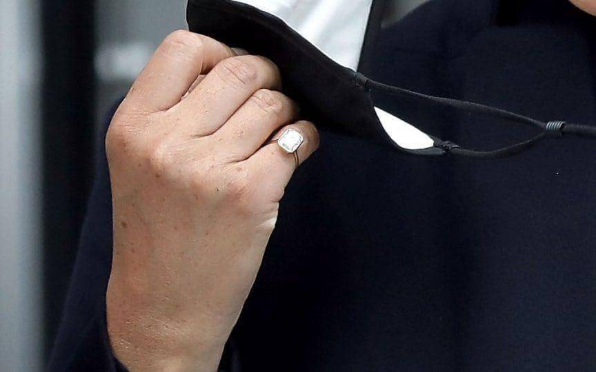 The Duchess wore a Lorraine Schwartz pinky ring, one she's favoured since October 2020 - Peter Foley/ Shutterstock