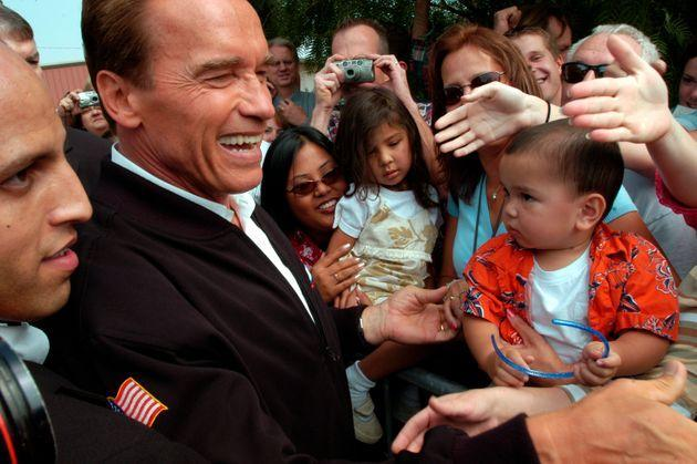 Arnold Schwarzenegger, a Republican who governed California from 2003 to 2011, is the first and only person to win a gubernatorial recall election in California. (Photo: Orjan F. Ellingvag/Getty Images)