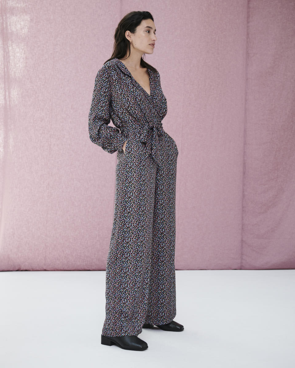 The new M&S x Ghost collection includes printed jumpsuits, wide leg trousers, as well as midi and mini dresses. (Marks and Spencer)