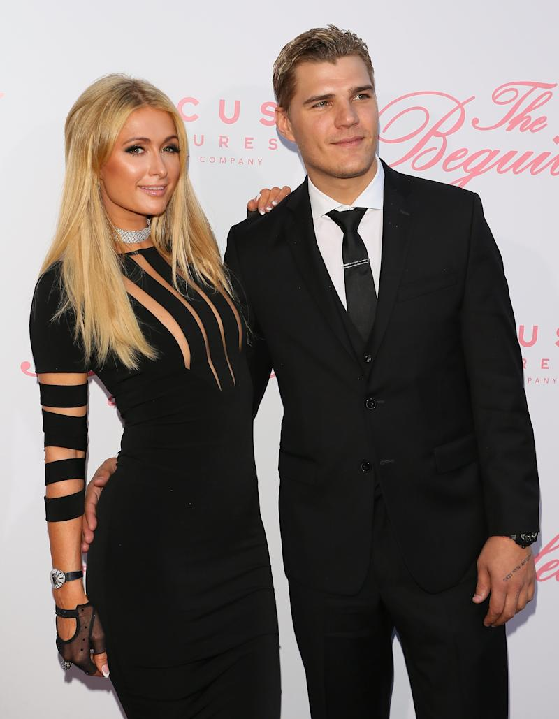 """Paris Hilton and Chris Zylka at the premiere of """"The Beguiled."""" (JB Lacroix via Getty Images)"""