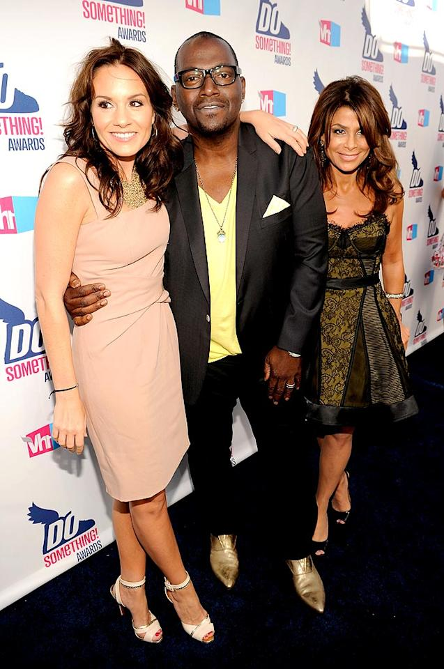 """Former and current """"American Idol"""" judges Kara DioGuardi, Randy """"the Dawg"""" Jackson, and Paula Abdul reunited to support the reality competition's nomination. Think there was any talk of Simon? Kevin Mazur/<a href=""""http://www.wireimage.com"""" target=""""new"""">WireImage.com</a> - July 19, 2010"""