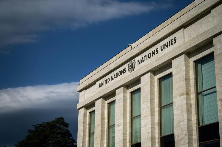 """The """"Palais des Nations"""" building which houses the United Nations in Geneva will be lit up blue to mark the organisation's 75th anniversary"""