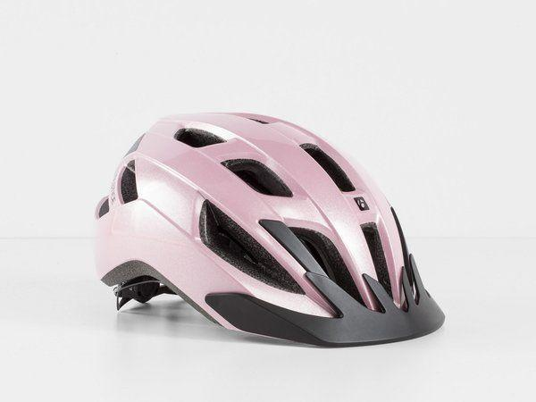 """<p><strong>Bontrager</strong></p><p>theurbancycleryshop.com</p><p><strong>$64.99</strong></p><p><a href=""""https://www.theurbancycleryshop.com/product/bontrager-solstice-mips-bike-helmet-367250-1.htm"""" rel=""""nofollow noopener"""" target=""""_blank"""" data-ylk=""""slk:Shop Now"""" class=""""link rapid-noclick-resp"""">Shop Now</a></p><p>The glossy pink sheen of this helmet makes it way more stylish than any ol' plain black one. You and your brain will be protected when you're on your bike, but you'll also look fashion forward. Best of both worlds! </p>"""