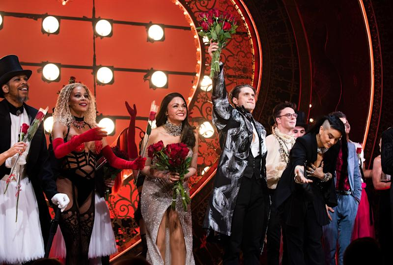 The cast of Moulin Rouge! The Musical on opening night