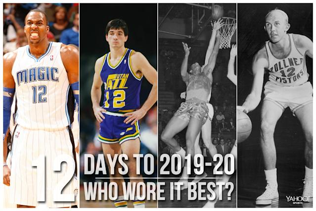 Which NBA player wore No. 12 best?