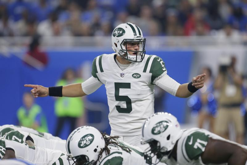 Christian Hackenberg completed two passes in the first half of Saturday's preseason game against Detroit. (AP)