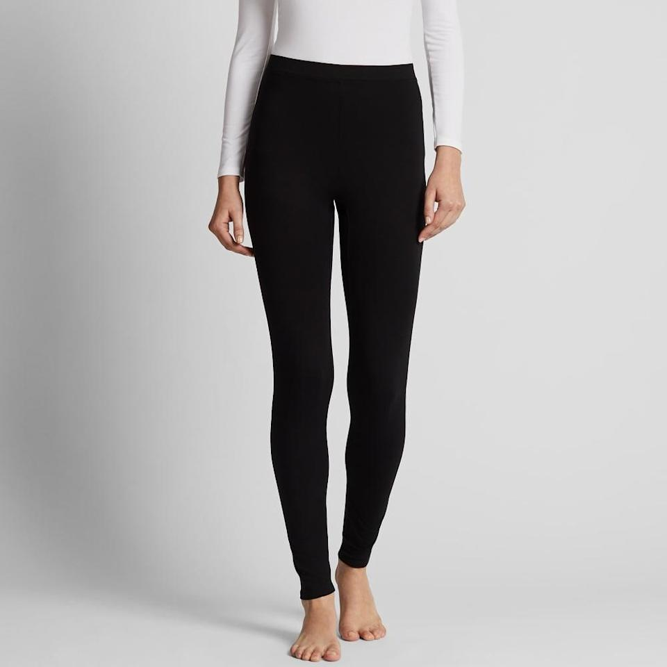 <p>Uniqlo's highly-rated <span>Heattech Extra Warm Leggings</span> ($24) are made with bio-warming material that converts body moisture to heat.</p>