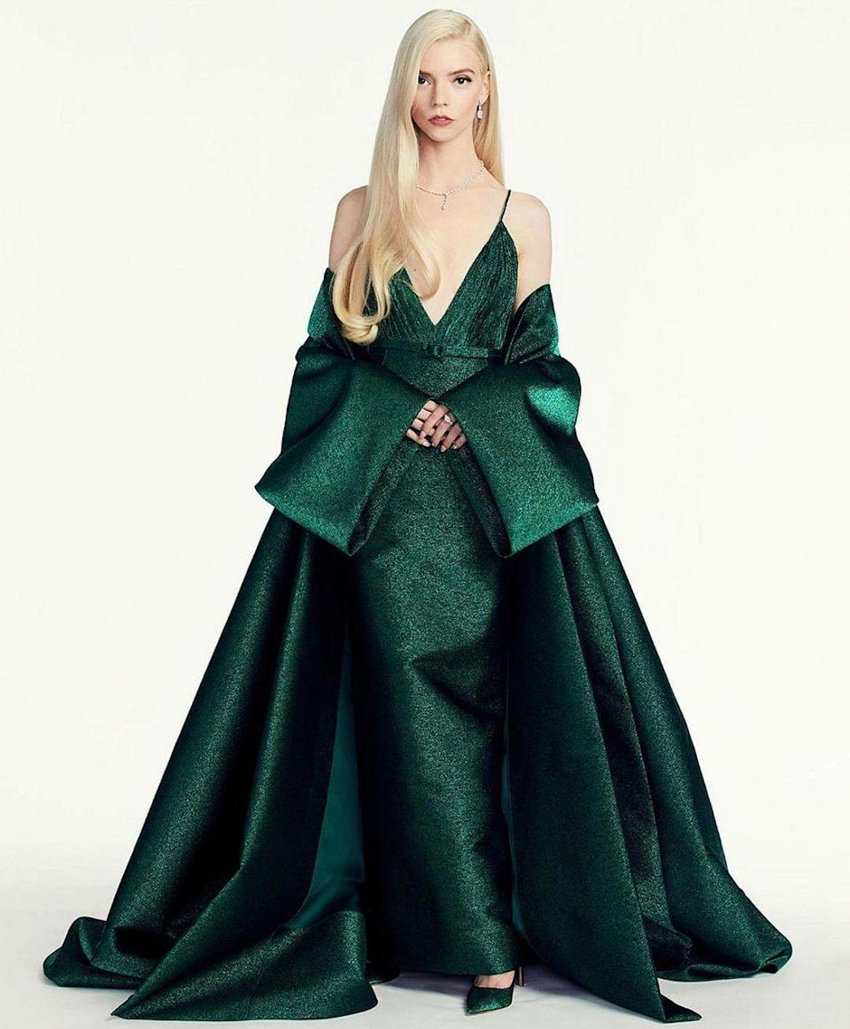 <p>Anya Taylor Joy wears a Christian Dior Haute Couture.</p>