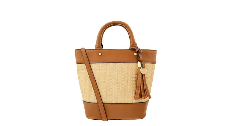 Raffia Stripe Shopper Bag