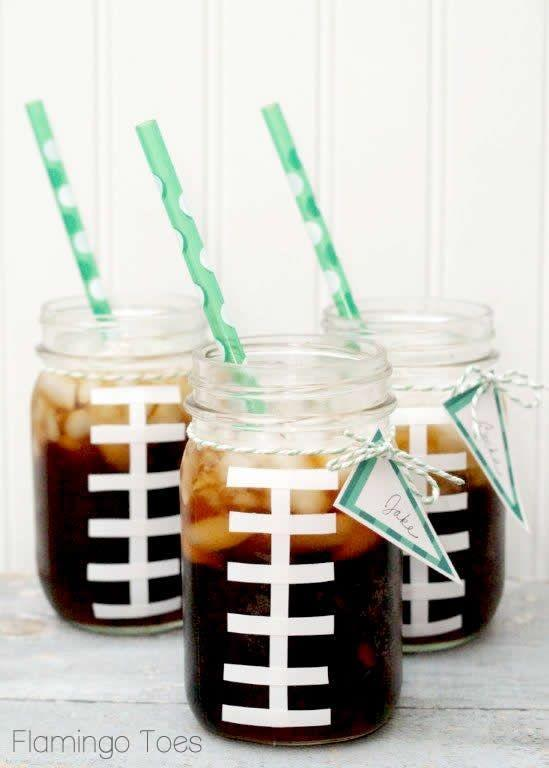 "<p>A little electrical tape goes a long way in turning a regular Mason jar into the perfect game day drink.</p><p><a class=""link rapid-noclick-resp"" href=""https://www.amazon.com/KAMOTA-Regular-Magnetic-Whiteboard-Included/dp/B07N3SXV24?tag=syn-yahoo-20&ascsubtag=%5Bartid%7C10055.g.4949%5Bsrc%7Cyahoo-us"" rel=""nofollow noopener"" target=""_blank"" data-ylk=""slk:SHOP MASON JARS"">SHOP MASON JARS</a></p>"