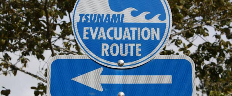 Tsunami Evacuation sign , Oregon