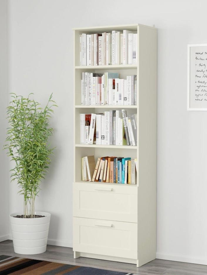 The Brimnes bookcase that tipped onto Clara and Dominic Oka is just over six feet tall. The Brimnes line includes three dressers that were part of Ikea's 2016 recall.