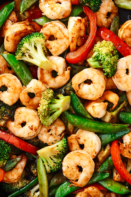"""<p>If no one would judge us we would eat this stir fry every single night. It's so simple to throw together yet full of so much flavour. Use whatever vegetable you like or make it a <a href=""""http://www.delish.com/uk/chicken-recipes/"""" rel=""""nofollow noopener"""" target=""""_blank"""" data-ylk=""""slk:chicken"""" class=""""link rapid-noclick-resp"""">chicken</a> stir fry if you'd rather. It's perfectly customisable!</p><p>Get the <a href=""""https://www.delish.com/uk/cooking/recipes/a28757385/shrimp-stir-fry-recipe/"""" rel=""""nofollow noopener"""" target=""""_blank"""" data-ylk=""""slk:Prawn Stir Fry"""" class=""""link rapid-noclick-resp"""">Prawn Stir Fry</a> recipe. </p>"""