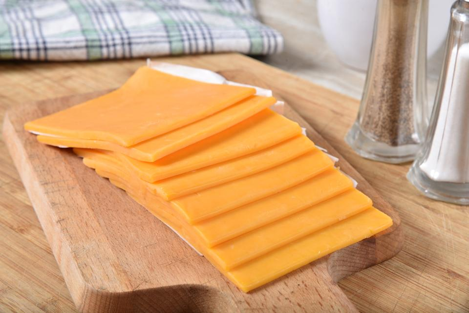 Sliced or 'plastic cheese' has been named the UK's favourite cheese. (Getty Images)