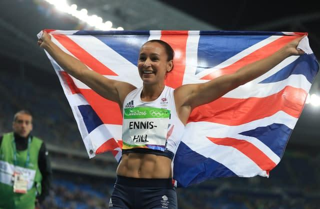 Great Britain's Jessica Ennis-Hill won silver at the Rio Olympics in 2016 (Mike Egerton/PA)