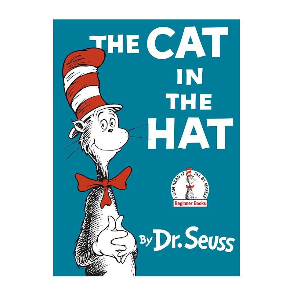 """<p><strong>$4.80</strong> <a class=""""link rapid-noclick-resp"""" href=""""https://www.amazon.com/Cat-Hat-Dr-Seuss/dp/039480001X/ref?tag=syn-yahoo-20&ascsubtag=%5Bartid%7C10050.g.35033274%5Bsrc%7Cyahoo-us"""" rel=""""nofollow noopener"""" target=""""_blank"""" data-ylk=""""slk:BUY NOW"""">BUY NOW</a><br><strong>Genre:</strong> Children's</p><p>Along with several Dr. Seuss classics like <em>Green Eggs and Ham</em> and <em>Oh, the Places You'll Go!, </em><em>The Cat in the Hat </em>is an iconic picture book that has helped children learn and become excited about reading for decades. </p>"""