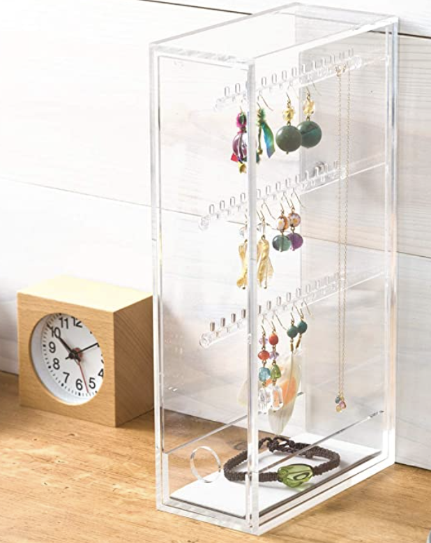 Muji Acrylic Stand for Pierced Earrings and Necklace. PHOTO: Amazon