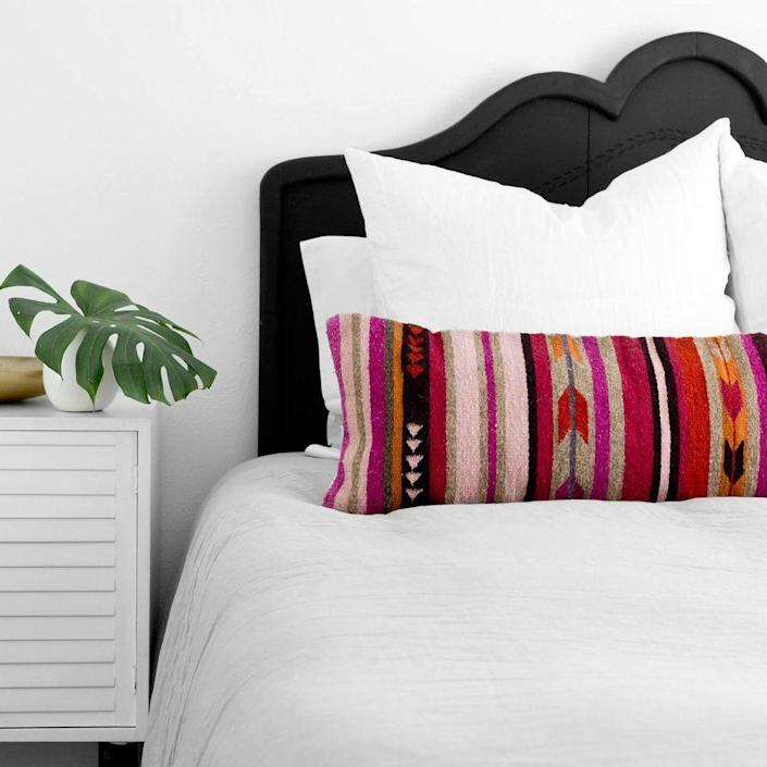 """<h3><strong>The Citizenry</strong> </h3> <br><br><strong>Best For: Artisan Bedding & Decor<br></strong>Maybe you've stumbled upon this dreamy home brand's items scattered across your social media feeds, or maybe you're already and avid fan. The Citizenry, although on the pricier side for bedding to furniture and decor finds, fills its virtual shop shelves with only handcrafted items sustainably sourced from all around the globe.<br><br><strong><em><a href=""""https://www.the-citizenry.com/"""" rel=""""nofollow noopener"""" target=""""_blank"""" data-ylk=""""slk:Shop The Citizenry"""" class=""""link rapid-noclick-resp"""">Shop The Citizenry</a></em></strong><br><br><strong>The Citizenry</strong> Baya Lumbar Pillow, $, available at <a href=""""https://go.skimresources.com/?id=30283X879131&url=https%3A%2F%2Fwww.the-citizenry.com%2Fproducts%2Fbaya-lumbar-pillow"""" rel=""""nofollow noopener"""" target=""""_blank"""" data-ylk=""""slk:The Citizenry"""" class=""""link rapid-noclick-resp"""">The Citizenry</a><br><br><br><br>"""