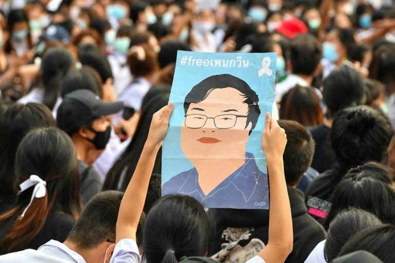 Kurniawati's posters are a familiar site at rallies, where protesters call for charges against their fellow activists to be dropped