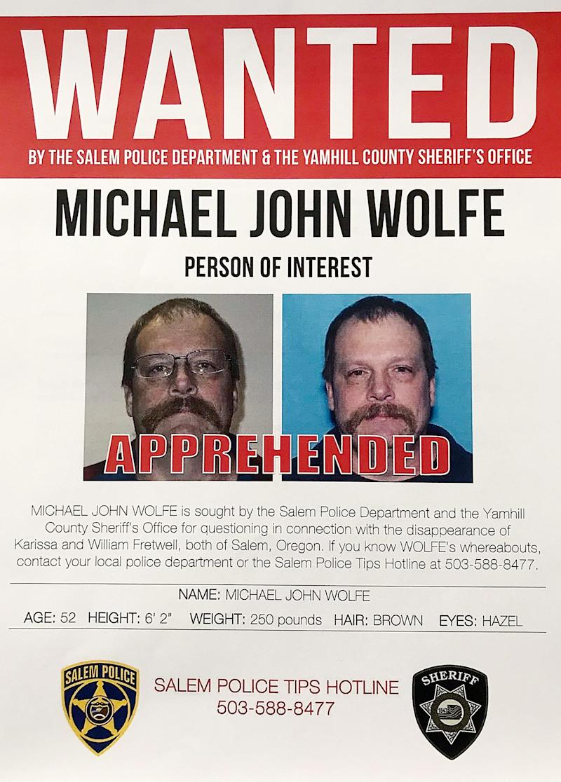 The Salem Police Department have arrested Michael John Wolfe, age 52 of Gaston, Oregon, who is now facing two counts of aggravated murder.