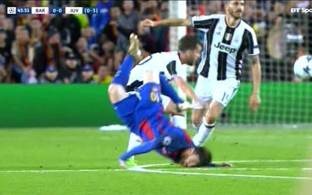 messi face plant