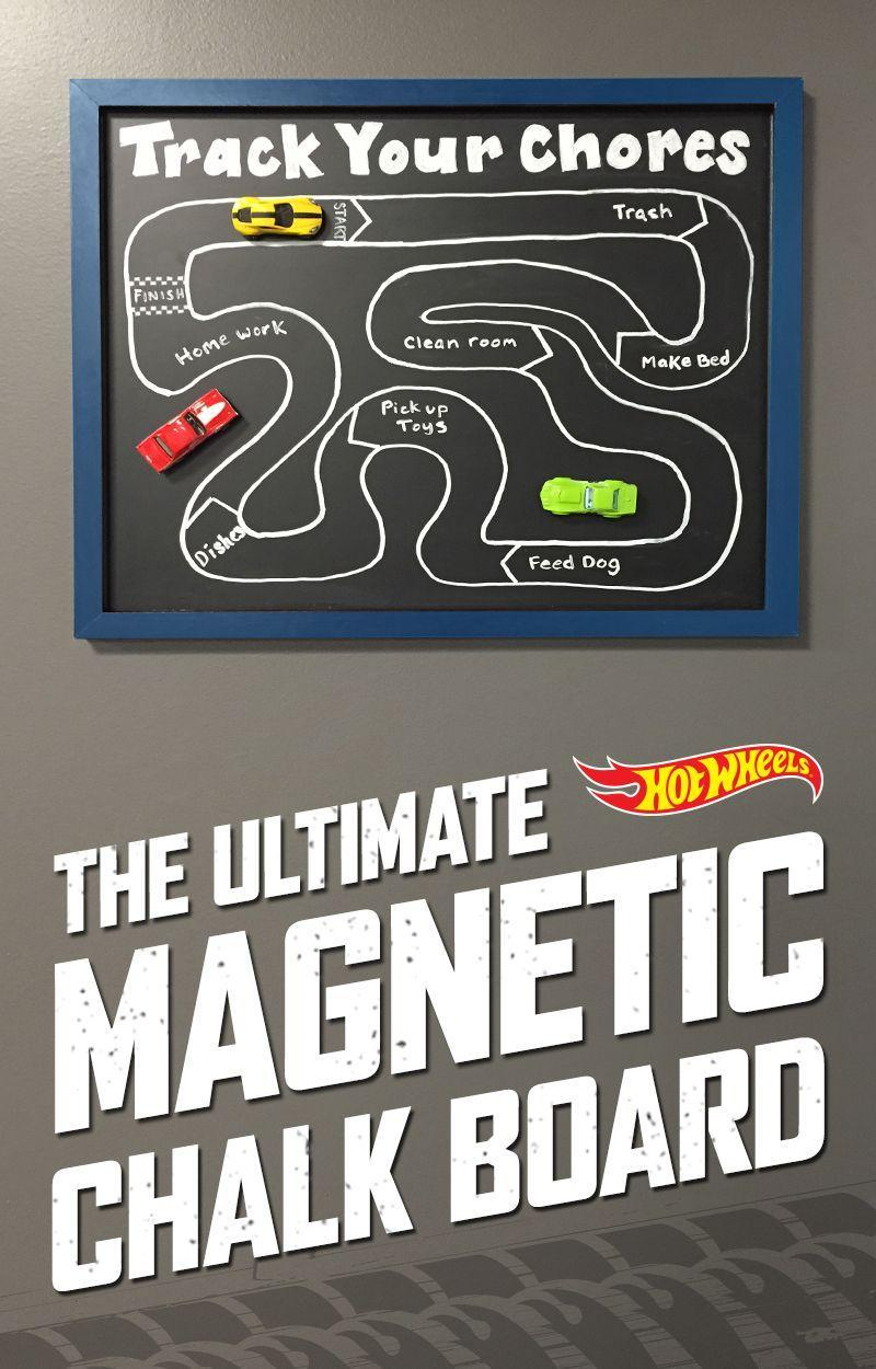 """<p>If your kids are obsessed with toy cars, they'll love this fun magnetic chore chart that will keep track of their daily tasks.</p><p><strong><a href=""""https://hotwheels.mattel.com/en-us/news/blog-details/back-to-school"""" rel=""""nofollow noopener"""" target=""""_blank"""" data-ylk=""""slk:Get the tutorial at Hot Wheels."""" class=""""link rapid-noclick-resp""""><em>Get the tutorial at Hot Wheels.</em></a></strong></p>"""
