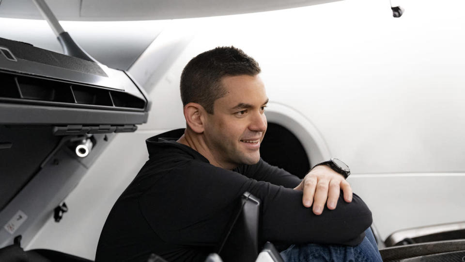 Jared Isaacman in SpaceX Crew Dragon