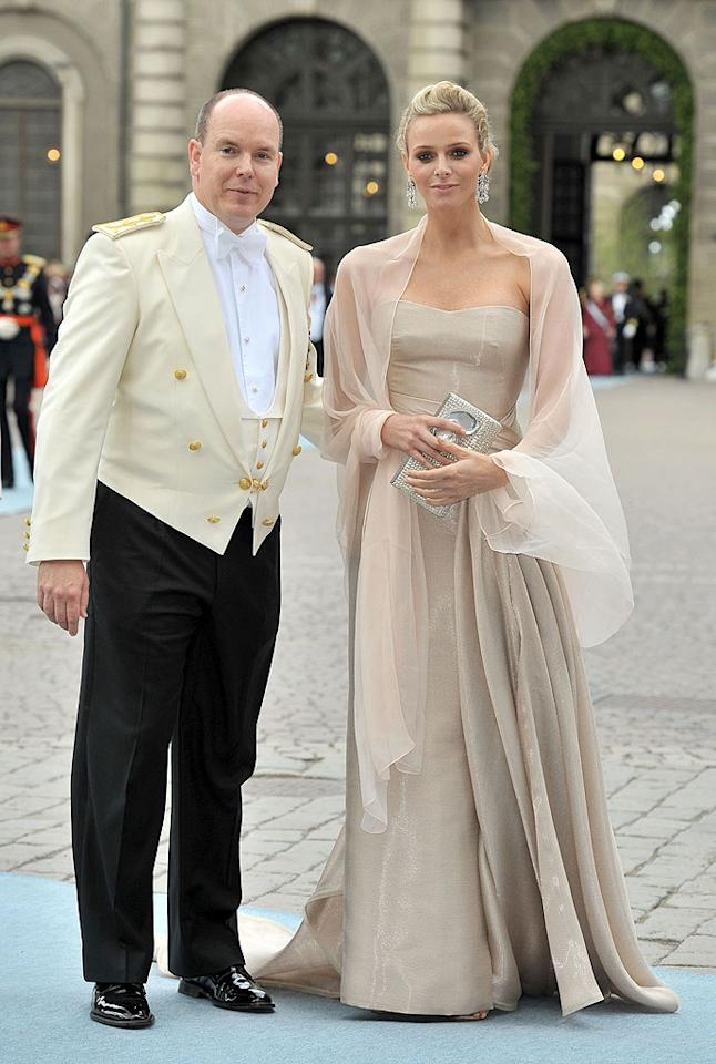 """The royals were out in full force this week -- after attending the wedding of Crown Princess Victoria of Sweden, Prince Albert of Monaco announced that he and girlfriend Charlene Wittstock were engaged to be married. Dominique Charriau/<a href=""""http://www.wireimage.com"""" target=""""new"""">WireImage.com</a> - June 19, 2010"""