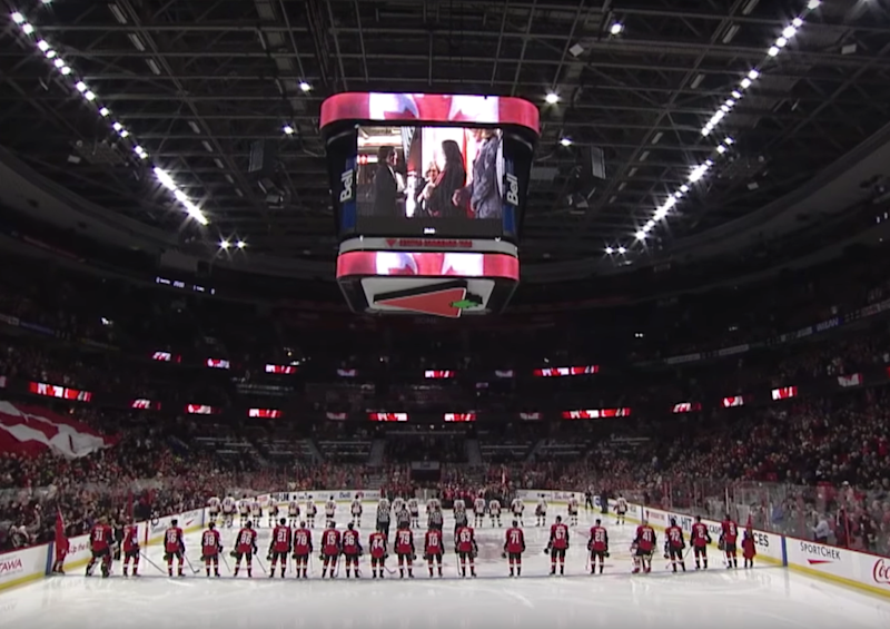 Canadian citizenship ceremony is conducted at home of the NHL Ottawa Senators