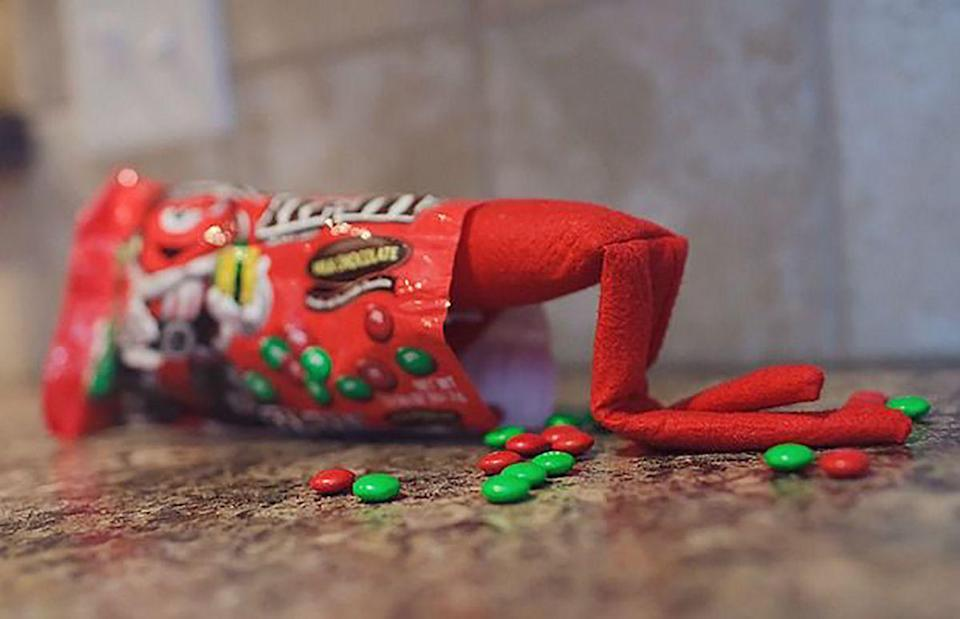 """<p>Elves love things all things sugar, so he really couldn't help himself. (We've all been there.)</p><p><a href=""""http://rebeccalundin.com/2012/12/elf-on-the-shelf-day-3/"""" rel=""""nofollow noopener"""" target=""""_blank"""" data-ylk=""""slk:See more at A Life Examined »"""" class=""""link rapid-noclick-resp""""><em>See more at A Life Examined »</em></a></p>"""