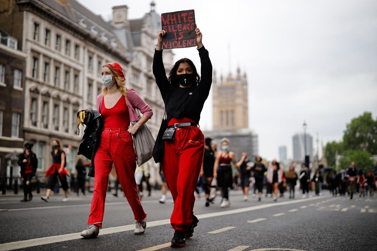 "<p>On Wednesday, following <a href=""https://www.elle.com/uk/life-and-culture/g32726806/george-floyd-protest-photos/"" target=""_blank"">days of Black Lives Matter marches in the US</a> sparked by the death of George Floyd, a <a href=""https://www.elle.com/uk/life-and-culture/culture/a32741385/black-lives-matter-uk-protests-george-floyd/"" target=""_blank"">series of solidarity marches took place in the UK.</a></p><p>The protests and uprisings were to pay tribute to Floyd and share anger over the way he died, as well as highlight issues of systemic racism globally and <a href=""https://www.elle.com/uk/life-and-culture/a32742001/marcia-rigg-anti-racism/"" target=""_blank"">incidents involving Black Britons and the police in the UK</a>.</p><p>Thousands of people marched through Westminster, past Downing Street and to London Victoria station to protest the lack of action over the Covid-19 death of transport worker Belly Mujinga. During the march protesters took a knee in a show of solidarity and chanted 'Black Lives Matter.' Star Wars actor John Boyega was also filmed delivering an emotional and captivating speech on racism in Hyde Park.<br></p><p>If you weren't able to march and want to know the best way to support the movement, <a href=""https://www.elle.com/uk/life-and-culture/a32729095/black-lives-matter-support-donate/"" target=""_blank"">find links here to charities, organisations and resources to aid your development and learning.</a></p><p>Scroll through the gallery for a selection of captivating, powerful and thought-provoking photos taken during the day.</p>"