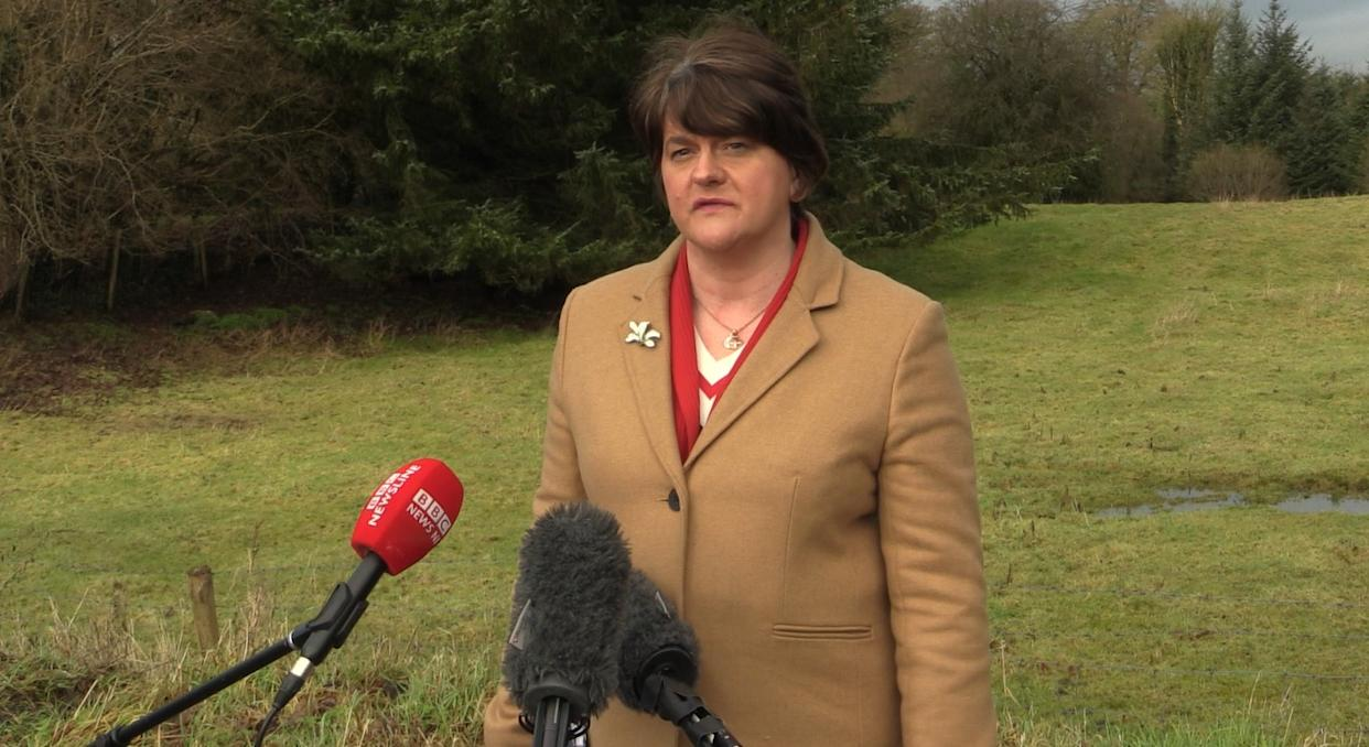 First Minister Arlene Foster, who said a Covid vaccine producer raised concerns with her around the potential impact of the NI Protocol on the supply of medicines to the region.