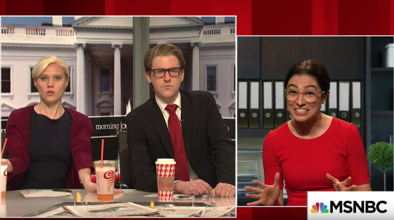 'SNL' Offers Its Take On Alexandria Ocasio-Cortez In 'Morning Joe' Parody