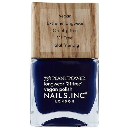 <p>Cancers are known for being the most romantic, caring, and sensitive signs out there. We can't think of a better match for you than a deep blue like the <span>Nails.Inc Plant Power Spiritual Gangster Nail Polish</span> ($10). </p>