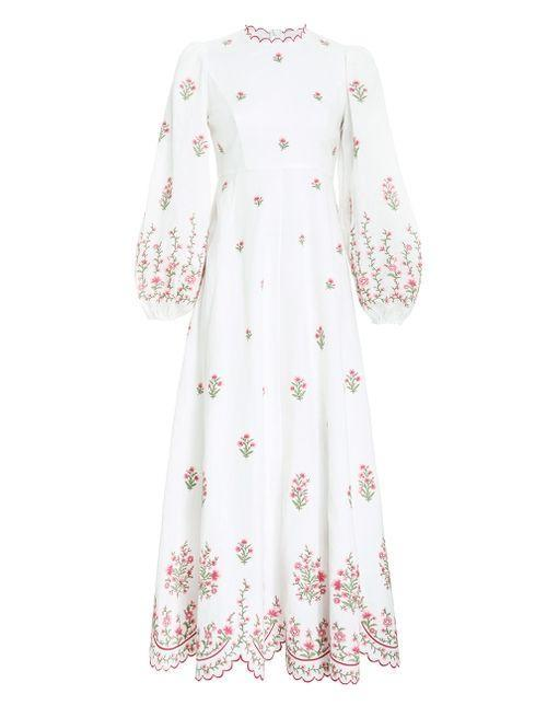 """<p><strong>zimmermann</strong></p><p>zimmermannwear.com</p><p><strong>$1050.00</strong></p><p><a href=""""https://go.redirectingat.com?id=74968X1596630&url=https%3A%2F%2Fwww.zimmermannwear.com%2Fus%2Fswim%2Fclothing%2Fdresses%2Fpoppy-floral-midi-dress-pink-embroidery.html&sref=https%3A%2F%2Fwww.townandcountrymag.com%2Fstyle%2Fg36049039%2Fbest-linen-dresses-women%2F"""" rel=""""nofollow noopener"""" target=""""_blank"""" data-ylk=""""slk:Shop Now"""" class=""""link rapid-noclick-resp"""">Shop Now</a></p><p>Beautifully intricate embroidery on this elegant linen dress make it special, but not too precious. </p>"""