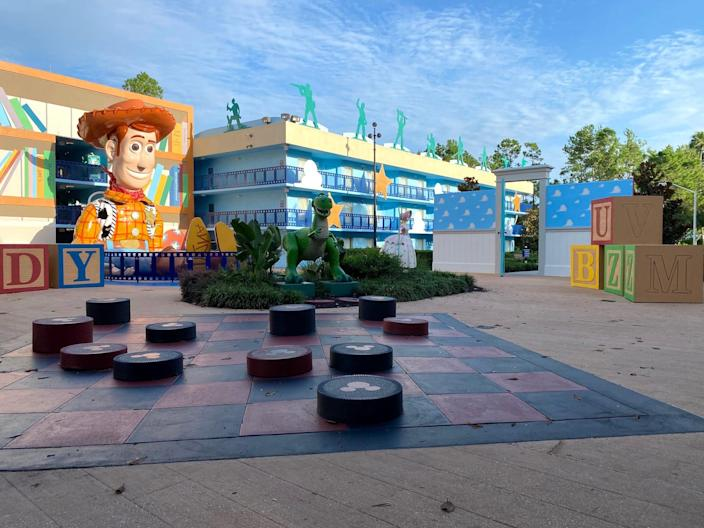 """The """"Toy Story"""" section of Disney World's All-Star Movies Resort."""