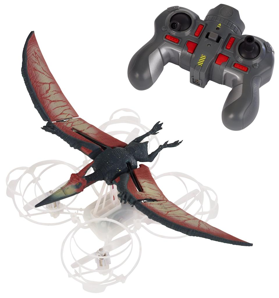 <p>Why let Pteranodons have all the flying fun? Kids as young as 8 can achieve liftoff with this family-friendly drone. (Photo: Mattel) </p>