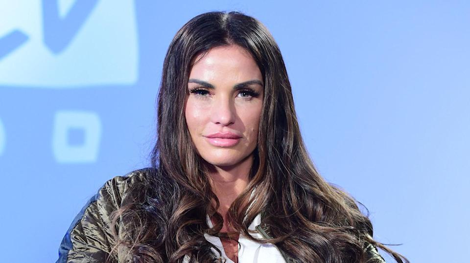 Katie Price opened up earlier today. Copyright: [Rex]