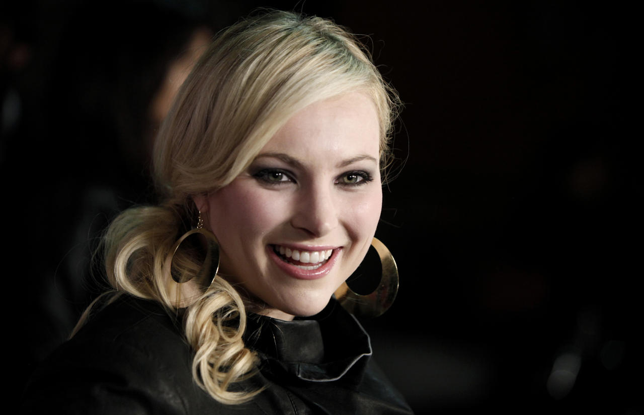 FILE- This March 28, 2009 file photo shows Meghan McCain, daughter of Sen. John McCain, as she arrives at Perez Hilton's 31st Birthday Party in West Hollywood, Calif. McCain is trying to establish herself as a bold voice for young, disaffected, socially moderate Republicans just like her.