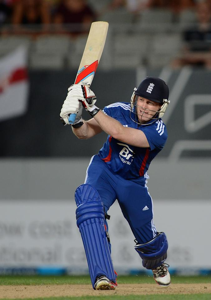 AUCKLAND, NEW ZEALAND - FEBRUARY 23:  Eoin Morgan of England bats during the third game in the International One Day series between New Zealand and England at Eden Park on February 23, 2013 in Auckland, New Zealand.  (Photo by Gareth Copley/Getty Images)