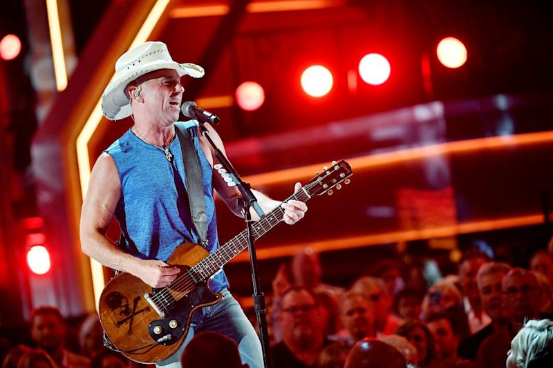 Kenny Chesney performs during the 53rd Academy of Country Music Awards show at the MGM Grand Garden Arena on April 15, 2018, in Las Vegas.