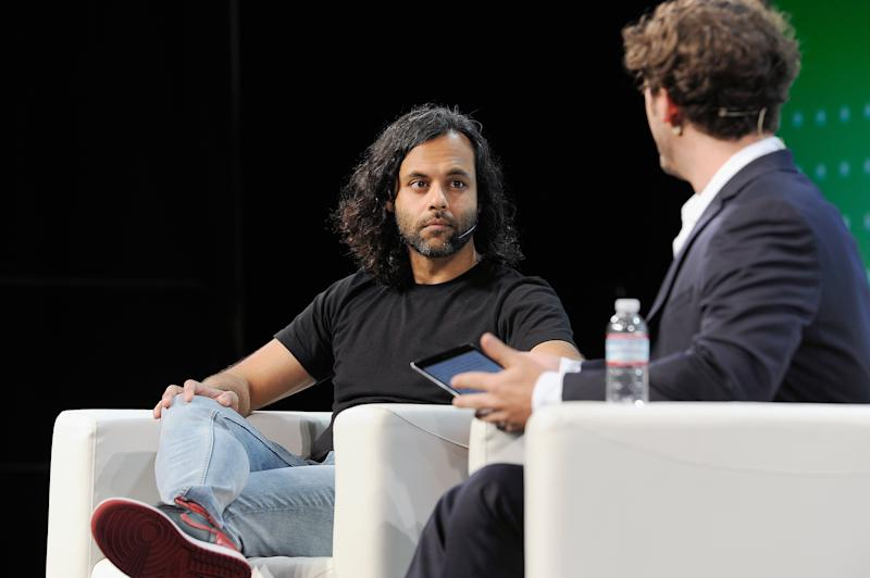 SAN FRANCISCO, CA - SEPTEMBER 06: Robinhood Co-Founder and Co-CEO Baiju Bhatt (L) and moderator Josh Constine speak onstage during Day 2 of TechCrunch Disrupt SF 2018 at Moscone Center on September 6, 2018 in San Francisco, California. (Photo by Steve Jennings/Getty Images for TechCrunch)