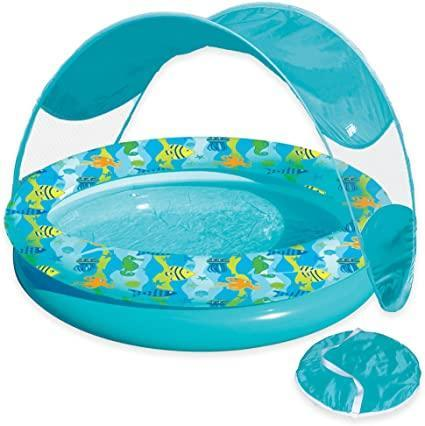 "<br> <br> <strong>Aqua Leisure</strong> Tot Sunshade Pool with Canopy and Carry Bag in Turquois, $, available at <a href=""https://go.skimresources.com/?id=30283X879131&url=https%3A%2F%2Fwww.bedbathandbeyond.com%2Fstore%2Fproduct%2Faqua-leisure-reg-tot-sunshade-pool-with-canopy-and-carry-bag-in-turquoise-multi%2F1045649769"" rel=""nofollow noopener"" target=""_blank"" data-ylk=""slk:Bed Bath and Beyond"" class=""link rapid-noclick-resp"">Bed Bath and Beyond</a>"