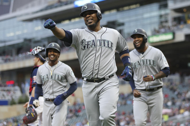 Yankees reportedly add a big bat by acquiring Edwin Encarnacion from the Seattle Mariners. (AP Photo/Stacy Bengs)