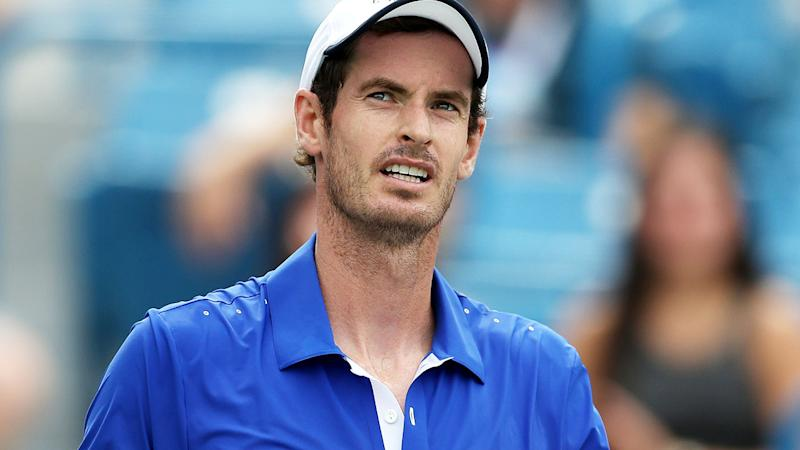 Andy Murray in action against Richard Gasquet in Cincinnati. (Photo by Rob Carr/Getty Images)